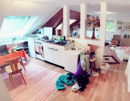 Inside the apartment (with our mess)